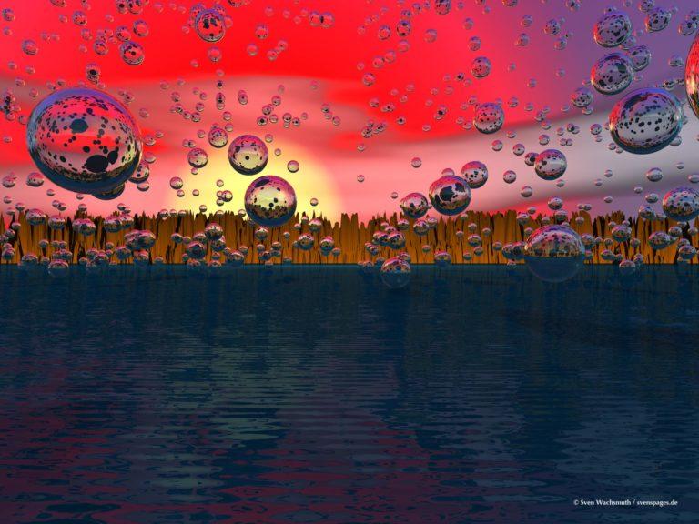 Seifenblasen und Meer