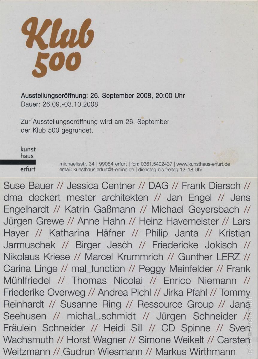 Ausstellung zur Gründung Klub 500