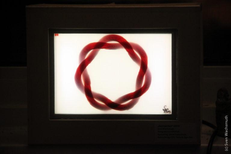 Analog-Hologramm-Lampe 'Zweinsamkeit'