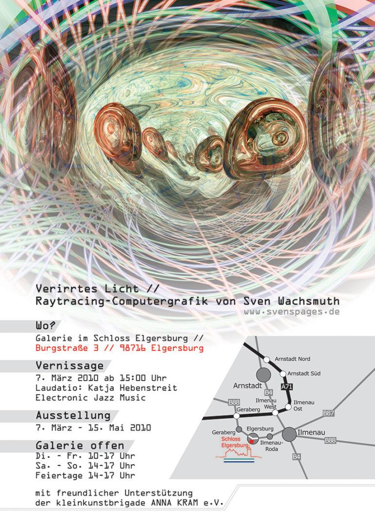 Ausstellung 'Verirrtes Licht' im Schloss 'Elgersburg' bei Ilmenau